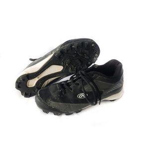 ✨3/$25✨Rawlings Baseball Cleats - Black & White